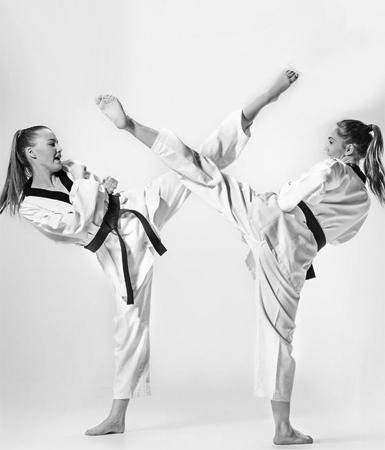 75551552 - the studio shot of group of kids training karate martial arts