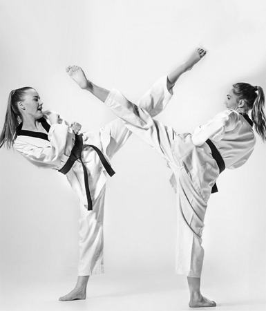75551552 - the studio shot of group of kids training karate martial arts